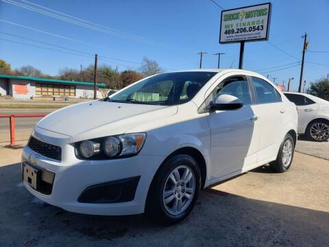 2013 Chevrolet Sonic for sale at Shock Motors in Garland TX