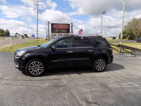 2014 GMC Acadia for sale at MYLENBUSCH AUTO SOURCE in O` Fallon MO