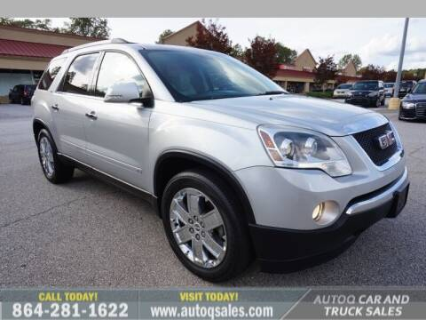 2010 GMC Acadia for sale at Auto Q Car and Truck Sales in Mauldin SC