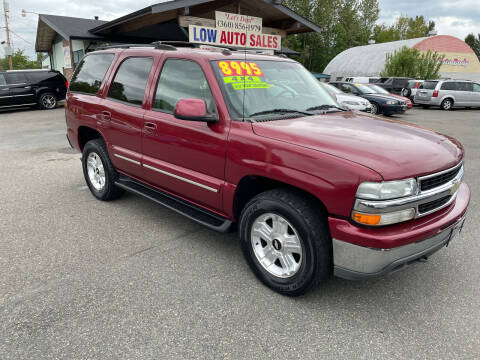 2004 Chevrolet Tahoe for sale at Low Auto Sales in Sedro Woolley WA