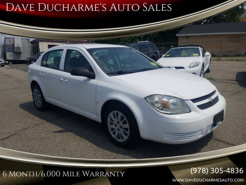 2009 Chevrolet Cobalt for sale at Dave Ducharme's Auto Sales in Lowell MA