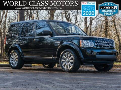 2012 Land Rover LR4 for sale at World Class Motors LLC in Noblesville IN