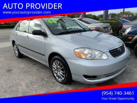 2006 Toyota Corolla for sale at AUTO PROVIDER in Fort Lauderdale FL