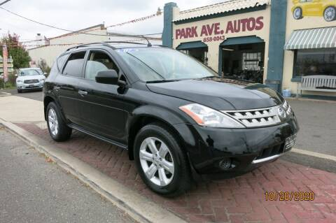 2007 Nissan Murano for sale at PARK AVENUE AUTOS in Collingswood NJ