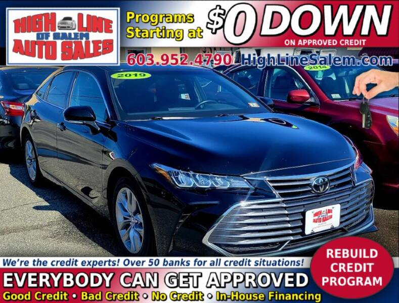 2019 Toyota Avalon for sale at High Line Auto Sales of Salem in Salem NH
