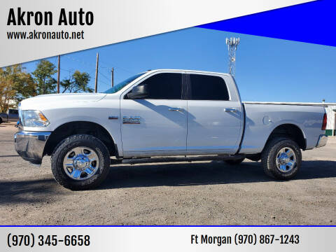 2016 RAM Ram Pickup 2500 for sale at Akron Auto in Akron CO