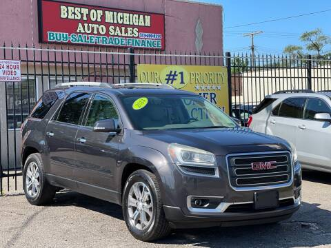 2014 GMC Acadia for sale at Best of Michigan Auto Sales in Detroit MI
