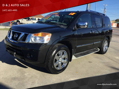2012 Nissan Armada for sale at D & J AUTO SALES in Joplin MO
