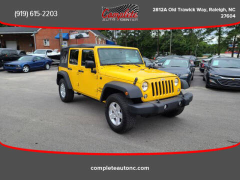 2015 Jeep Wrangler Unlimited for sale at Complete Auto Center , Inc in Raleigh NC