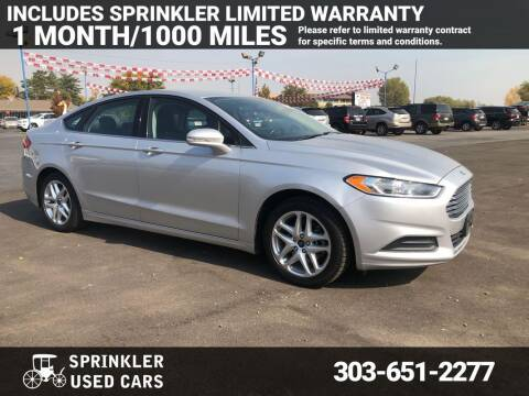 2014 Ford Fusion for sale at Sprinkler Used Cars in Longmont CO
