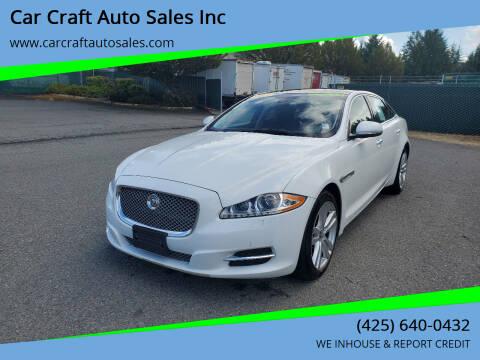 2013 Jaguar XJL for sale at Car Craft Auto Sales Inc in Lynnwood WA