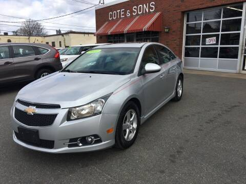 2011 Chevrolet Cruze for sale at Cote & Sons Automotive Ctr in Lawrence MA