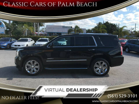 2015 GMC Yukon for sale at Classic Cars of Palm Beach in Jupiter FL