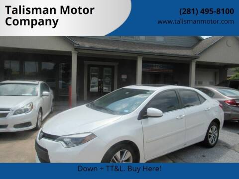 2014 Toyota Corolla for sale at Don Jacobson Automobiles in Houston TX