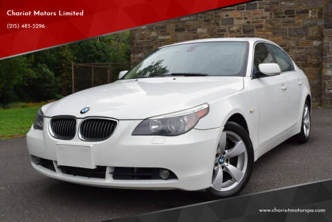 2007 BMW 5 Series for sale at Chariot Motors Limited in Feasterville Trevose PA