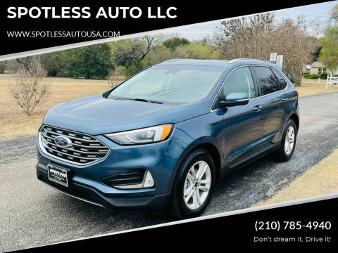 2019 Ford Edge for sale at SPOTLESS AUTO LLC in San Antonio TX