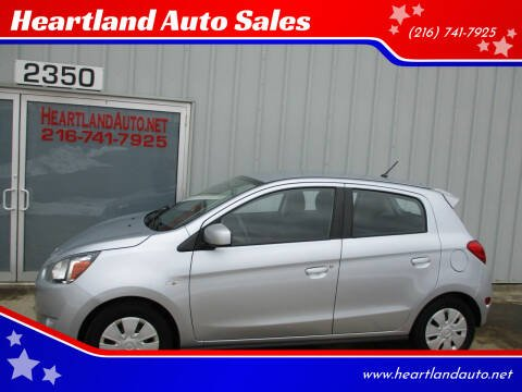 2015 Mitsubishi Mirage for sale at Heartland Auto Sales in Medina OH