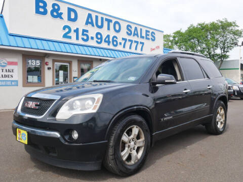 2008 GMC Acadia for sale at B & D Auto Sales Inc. in Fairless Hills PA