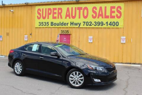 2014 Kia Optima for sale at Super Auto Sales in Las Vegas NV