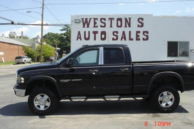 2005 Dodge Ram Pickup 2500 for sale at Weston's Auto Sales, Inc in Crewe VA