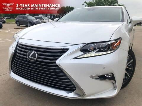2018 Lexus ES 350 for sale at European Motors Inc in Plano TX