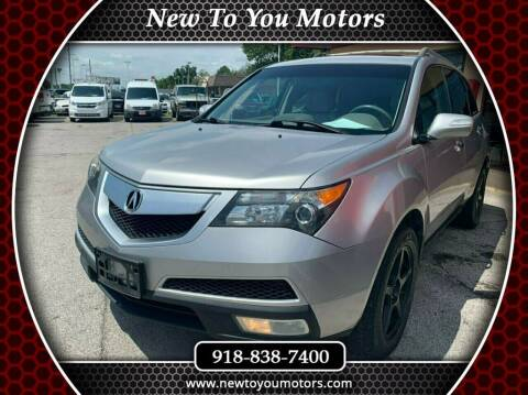 2013 Acura MDX for sale at New To You Motors in Tulsa OK