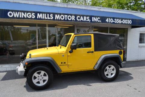 2008 Jeep Wrangler for sale at Owings Mills Motor Cars in Owings Mills MD