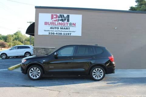 2013 BMW X3 for sale at Burlington Auto Mart in Burlington NC