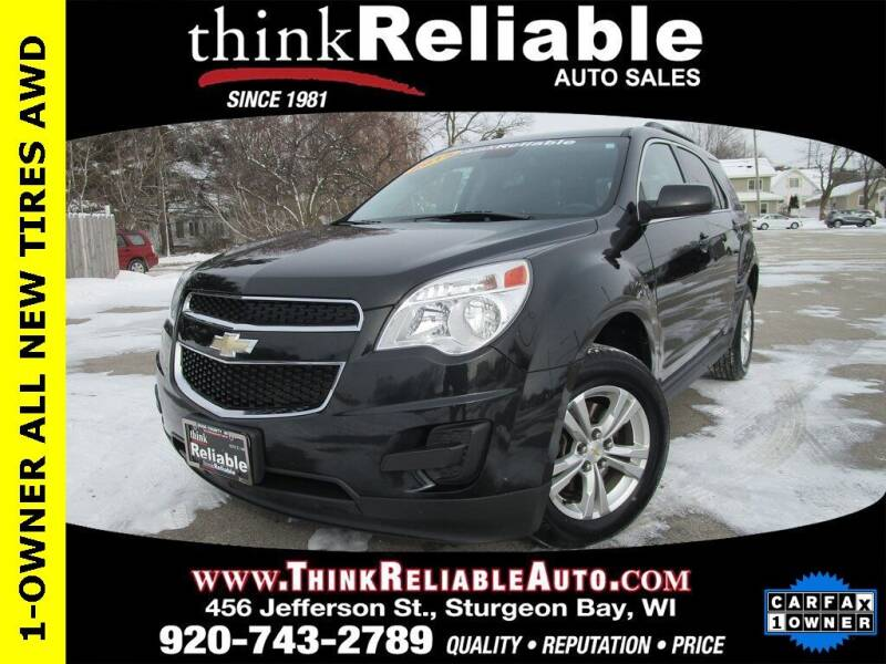 2015 Chevrolet Equinox for sale at RELIABLE AUTOMOBILE SALES, INC in Sturgeon Bay WI