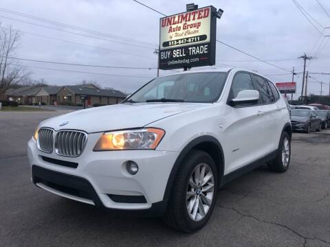 2014 BMW X3 for sale at Unlimited Auto Group in West Chester OH