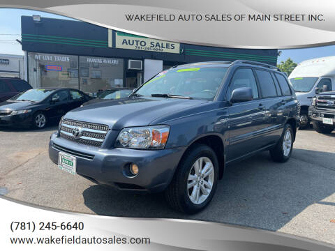 2006 Toyota Highlander Hybrid for sale at Wakefield Auto Sales of Main Street Inc. in Wakefield MA