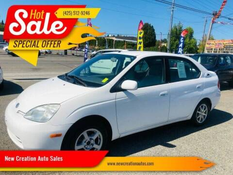 2001 Toyota Prius for sale at New Creation Auto Sales in Everett WA