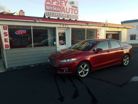 2013 Ford Fusion for sale at Apsey Auto in Marshfield WI