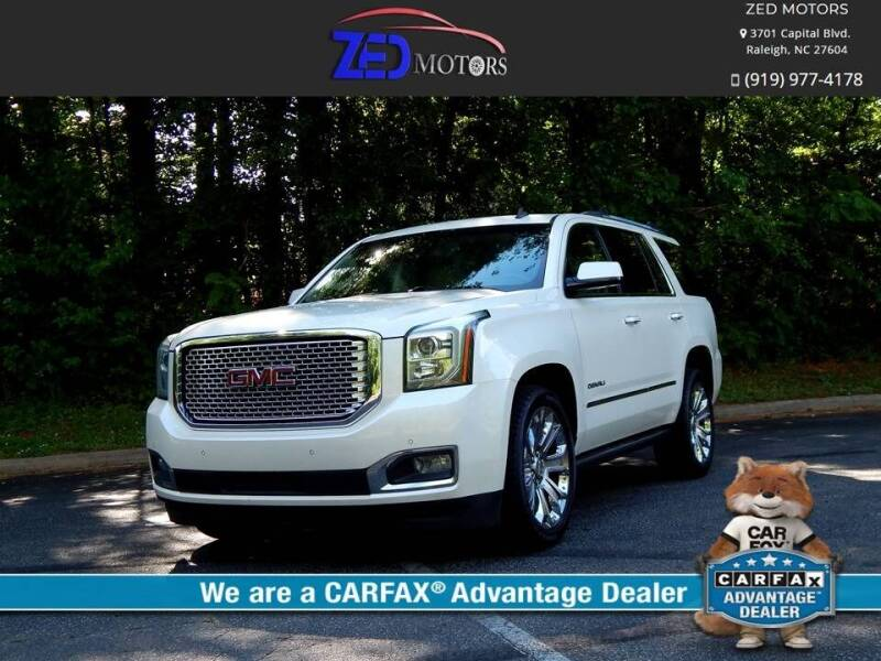 2015 GMC Yukon for sale at Zed Motors in Raleigh NC