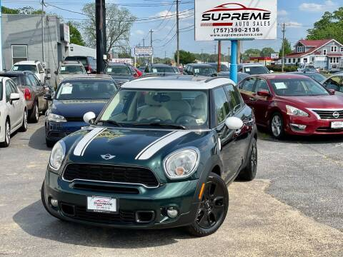2011 MINI Cooper Countryman for sale at Supreme Auto Sales in Chesapeake VA