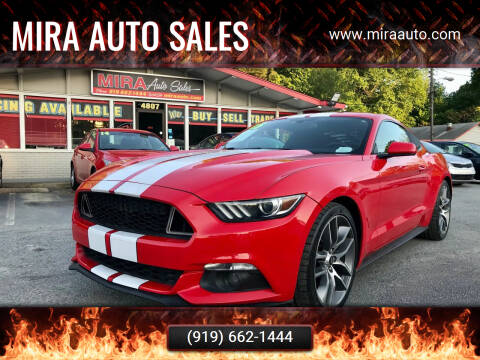 2015 Ford Mustang for sale at Mira Auto Sales in Raleigh NC