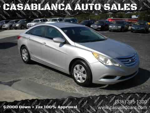 2011 Hyundai Sonata for sale at CASABLANCA AUTO SALES in Greensboro NC