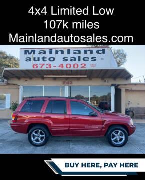 2002 Jeep Grand Cherokee for sale at Mainland Auto Sales Inc in Daytona Beach FL
