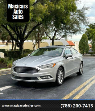 2017 Ford Fusion for sale at Maxicars Auto Sales in West Park FL