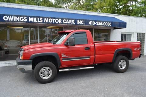 2003 Chevrolet Silverado 2500HD for sale at Owings Mills Motor Cars in Owings Mills MD