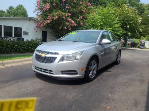 2012 Chevrolet Cruze for sale at TR MOTORS in Gastonia NC