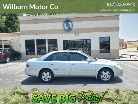 2003 Toyota Avalon for sale at Wilborn Motor Co in Fort Worth TX