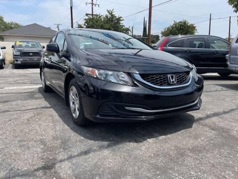 2013 Honda Civic for sale at Tristar Motors in Bell CA