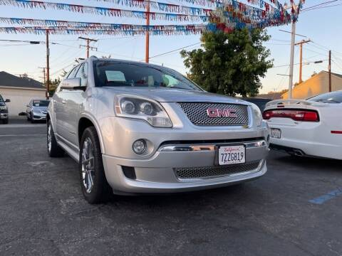 2011 GMC Acadia for sale at Tristar Motors in Bell CA