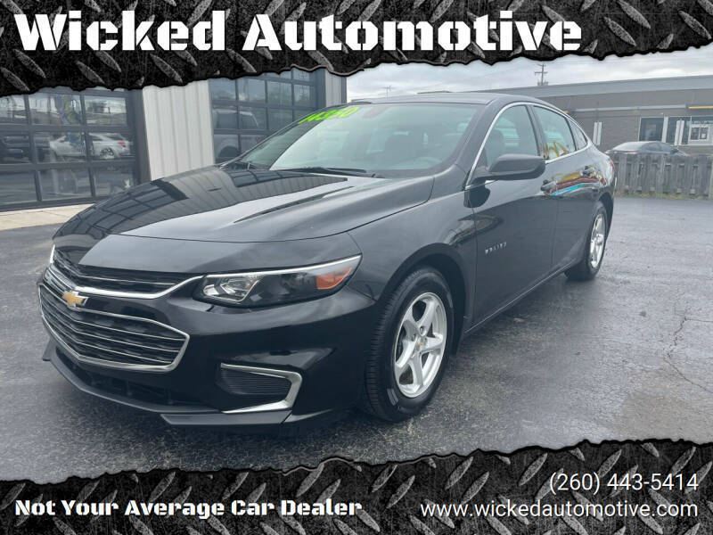 2016 Chevrolet Malibu for sale at Wicked Automotive in Fort Wayne IN