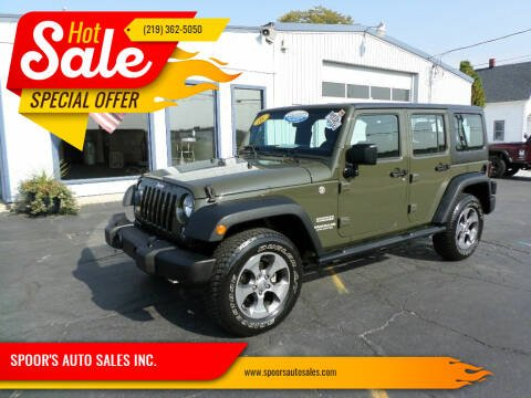 2016 Jeep Wrangler Unlimited for sale at SPOOR'S AUTO SALES INC. in La Porte IN