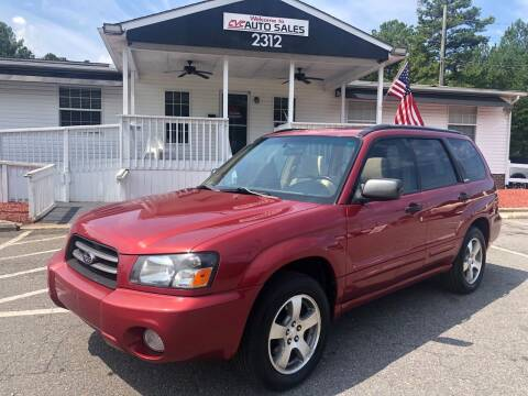 2003 Subaru Forester for sale at CVC AUTO SALES in Durham NC