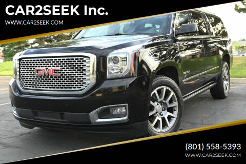 2017 GMC Yukon XL for sale at CAR2SEEK Inc. in Salt Lake City UT