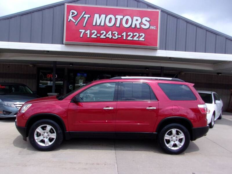 2012 GMC Acadia for sale at RT Motors Inc in Atlantic IA