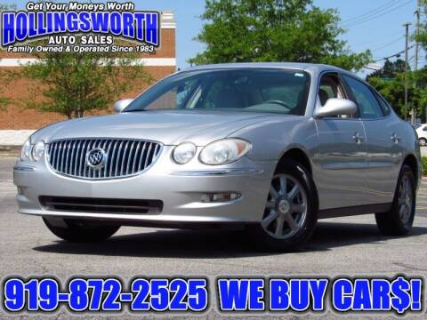 2009 Buick LaCrosse for sale at Hollingsworth Auto Sales in Raleigh NC